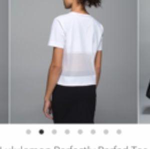 Lululemon perfectly perfect white T-shirt